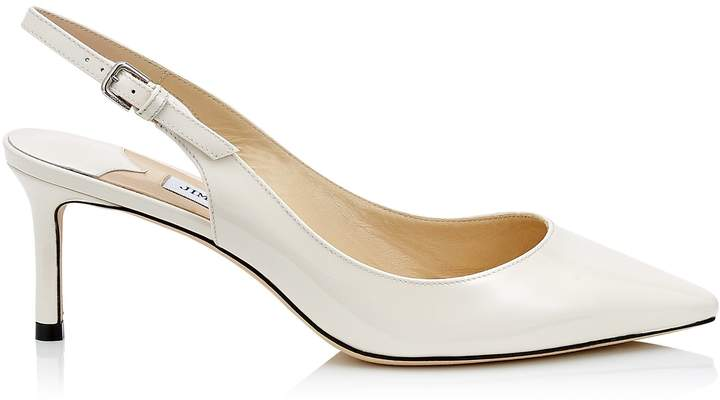Jimmy Choo ERIN 60 Latte Patent Leather Slingback Pump