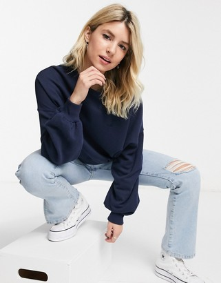 Hollister icon crew neck sweat in navy