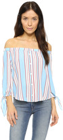 Line & Dot Annabelle Off Shoulder Top