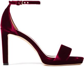 Jimmy Choo Misty 100 Velvet Platform Sandals