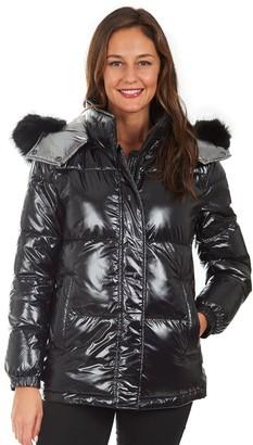 Fleet Street Women's Faux-Fur Hood Puffer Coat