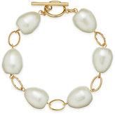 Lauren Ralph Lauren Gold-Tone Imitation Pearl Bracelet