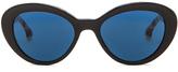 Prada Round Logo Temple Sunglasses