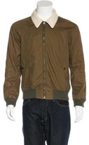 Band Of Outsiders Shearling-Trimmed Bomber Jacket