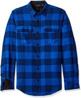Burnside Men's Vector Plaid Flannel Long Sleeve Shirt