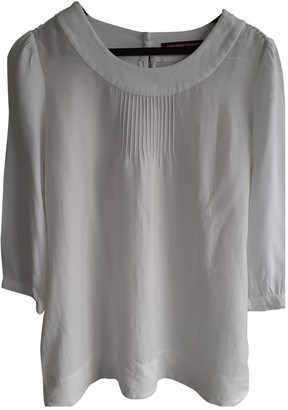 Comptoir des Cotonniers White Silk Top for Women