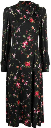 Goat Kayla rose-print midi dress