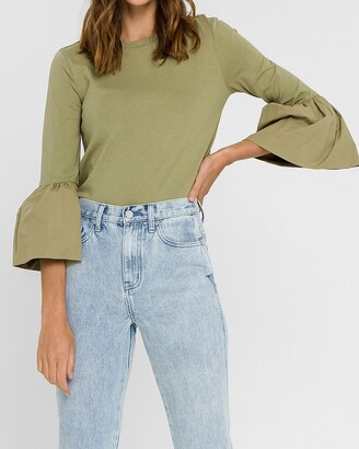 Express English Factory Ruffle Sleeve Tee