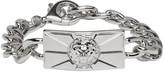 Versus Silver Lion Chain Bracelet