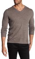 Save Khaki Wool Blend V-Neck Sweater