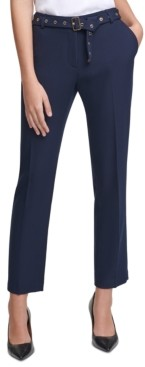 Calvin Klein Embellished-Belt Pants