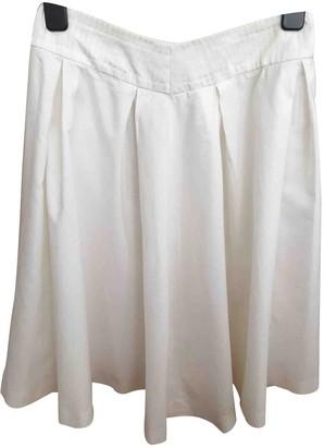 Celine White Cotton Skirt for Women Vintage