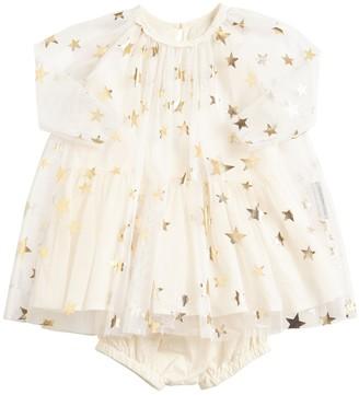 Stella Mccartney Kids Star Tulle & Jersey Dress & Diaper Cover