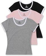 Blis Women's Tee Shirts Black - Pink & Gray Crewneck Tee Set - Women