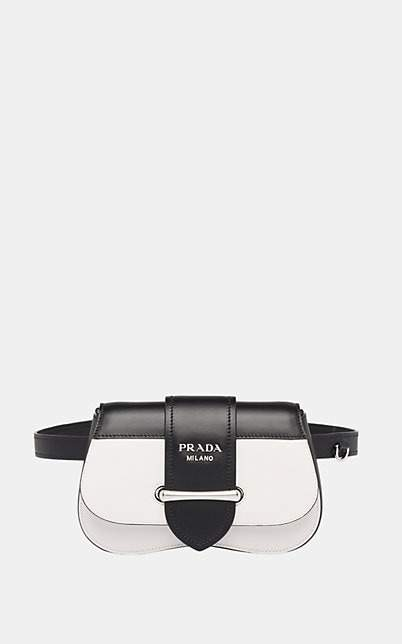 Prada Women's Sidonie Convertible Leather Belt Bag - Wht.&blk.