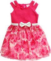 Youngland Young Land Short Sleeve Split Sleeve Skater Dress - Preschool Girls