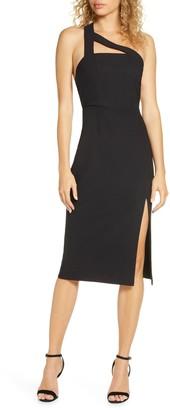 Finders Keepers Daniella One-Shoulder Crepe Sheath Dress