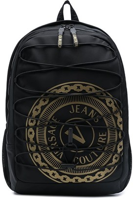 Versace Jeans Couture Logo-Print Drawcord Backpack