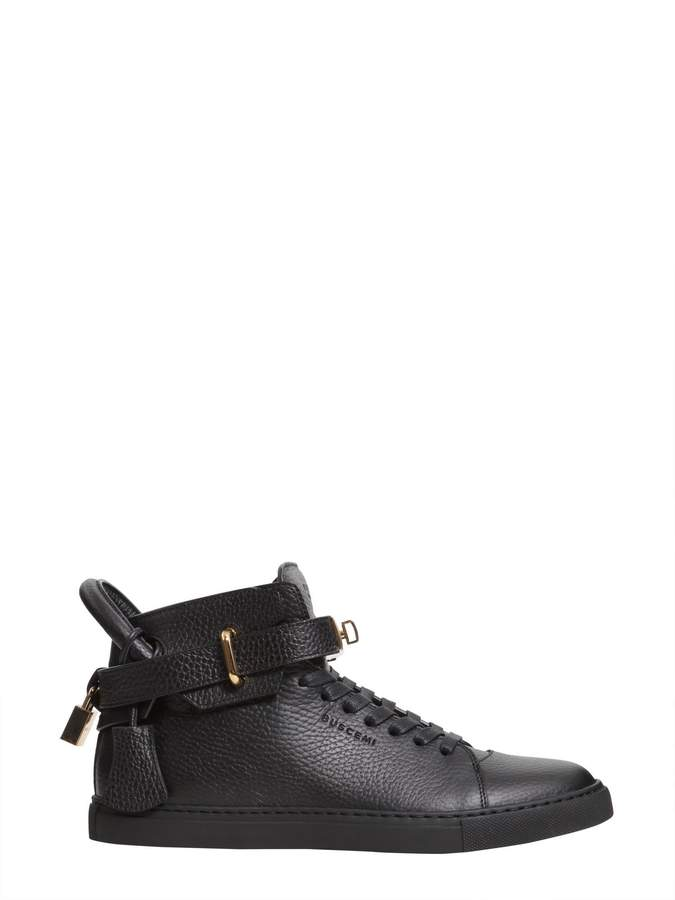 Buscemi High Top Leather Sneakers