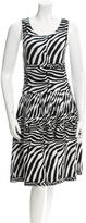 Issa Zebra Midi Dress
