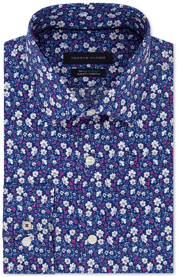 d11f13907 Tommy Hilfiger Purple Men's Dress Shirts - ShopStyle