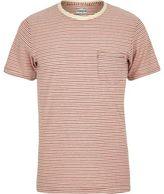 River Island MensRed stripe Jack & Jones Vintage T-shirt