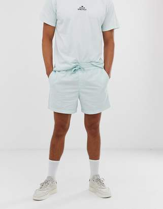 New Look pull on cord shorts in mint green