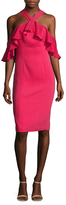 Jay Godfrey Weston Ruffle Overlay Sheath Dress