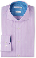 Isaac Mizrahi Slim Fit Lilac Glenn Plaid Shirt