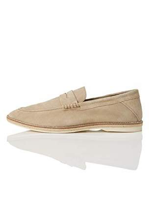 find. Jute Sole Soft Leather Loafers, Blue)