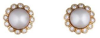 David Webb South Sea Pearl and Diamond Earrings