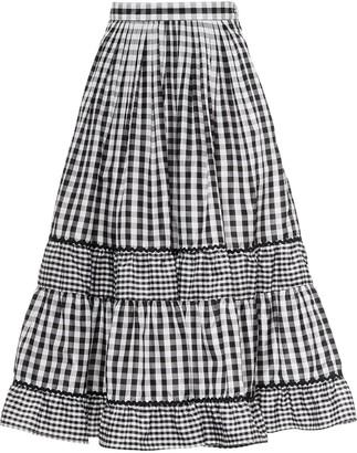 Miu Miu Panelled Gingham Skirt