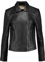 L'Agence Mercer Paneled Leather Biker Jacket