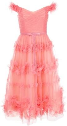 Marchesa floral layer dress