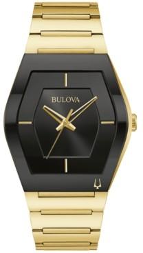 Bulova Men's Futuro Gold-Tone Stainless Steel Bracelet Watch 40mm
