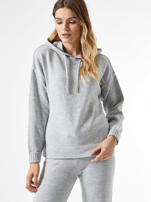 Dorothy Perkins Lounge Knitted Hoodie - Grey