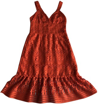 Diane von Furstenberg Orange Lace Dresses
