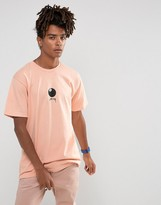 Stussy T-shirt With 8 Ball Front Print In Pale Salmon