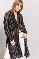 Forever 21 Striped Sheer Tunic