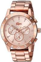 Lacoste Women's 'CHARLOTTE' Quartz Stainless Steel Casual Watch, Color:Rose Gold-Toned (Model: 2000964)