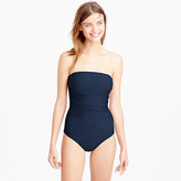 J.Crew Ruched bandeau one-piece swimsuit