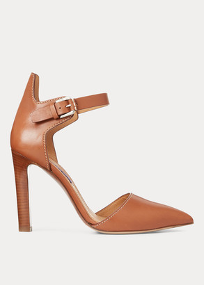 Ralph Lauren Ceana Burnished Calfskin Pump
