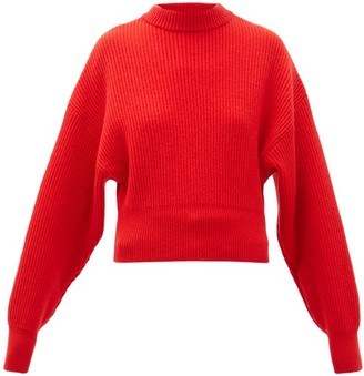 Cordova Megeve Cropped Ribbed-knit Wool Sweater - Womens - Red