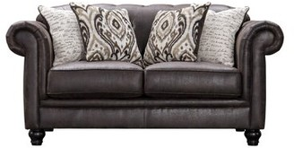 Acanva Chesterfield Tufted Leather-Like Loveseat House of Hampton