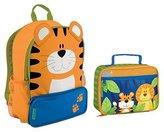 Stephen Joseph Boys Sidekick Tiger Backpack and Jungle Animals Lunch Box Combo - Kids Backpacks