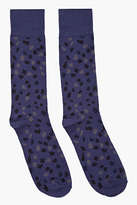 MARC BY MARC JACOBS Navy Spotted Cotton Socks