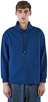 J.w. Anderson Men's Funnel Neck Jersey Sweater In Blue