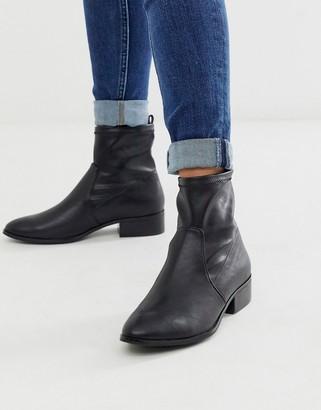 Aldo Erigori stretch leather ankle flat boot