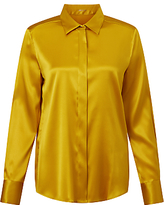 Marc Cain Silk Satin Shirt, Gold