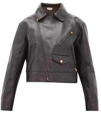 Holiday Boileau Houston Cropped Leather Jacket - Womens - Black